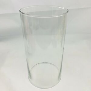 """Glass Open Ended 9""""H Hollow Candle Holder Cover Cylinder Hurricane Pillar Pharma"""