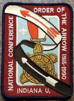 1990 NOAC - 75 Years of Service - Jacket Patch - BSA/OA