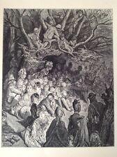 Londres, Gustave Dore Raro Antiguo de impresión de 1872, el Banco Río bajo los árboles
