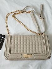 BCBG Quilted Crossbody shoulder w/ chain Stone $128 NEW