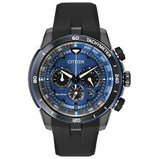 Citizen Eco-Drive Ecosphere Men's Chronograph Blue Dial 48mm Watch CA4155-12L