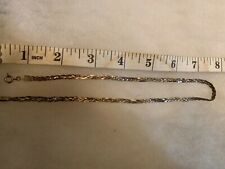 "Sterling 16"" braided chain"