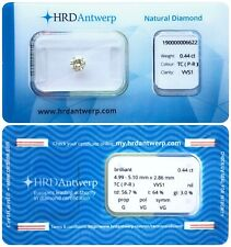 0.44 ct P-R VVS1 NATURAL DIAMOND BRILLIANT NIL G VG VG HRD DIAMANT SEALED
