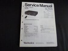Original Service Manual Technics SL-PS70