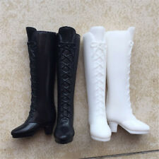 Long Boot Casual High Heels Cute Shoes Clothes For  Doll Dress Accessory Z;AU