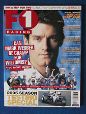 F1 Racing Magazine - January 2005 - Mark Webber Cover - Formula One
