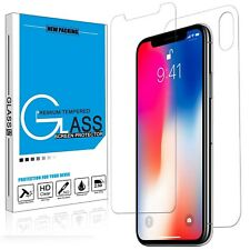 Premium Tempered Glass Screen Protector For iPhone X XS FULL BODY Front+Back