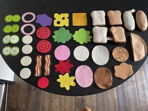 Melissa and Doug Sandwich Soft Pretend Play Felt Food Set 38 Pieces