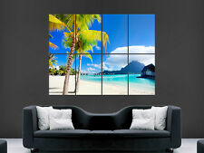 PALM TREES PARADISE  BORA BORA  BEACH  ART  HUGE WALL GIANT POSTER