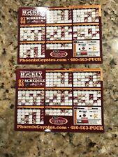 Phoenix Coyotes Magnet Schedules - 2007- 2008 - 2 Total