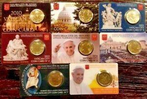 Coin card VATICAN 50 euro cent timbre stato città vaticano numismatica