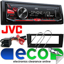 Fiat Punto Grande JVC MP3 RDS USB Aux Car Stereo Radio BLACK Fascia Kit FP-01-07