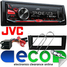 Fiat Punto Grande JVC RDS USB AUX MP3 radio estéreo de coche Negro Fascia Kit FP-01-07