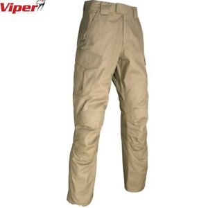 """CLEARANCE VIPER CONTRACTORS PANTS COYOTE MENS 34"""" WORKWEAR RIPSTOP TROUSERS"""