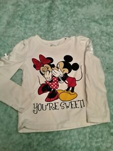 Minnie and Mickey Mouse Shirt Long Sleeve 2T