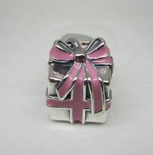 Authentic Pandora #791132EN24 Pink Present Bead