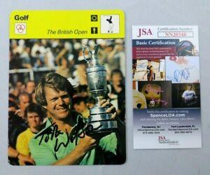 TOM WATSON 1978 SPORTSCASTER SIGNED AUTOGRAPH CARD AUTO JSA COA