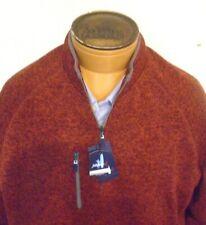 Johnnie O West Coast Prep Yukon Quarter Zip Fleece Pullover NWT Medium $145 Rust