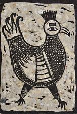 nabARus 090516-A1  Linogravure - Linocut - Outsider Art Singulier- 1/10 9x13 cm
