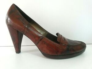 Vintage MONTBUI shoes, ALL LEATHER, made in Spain, BROWN, size 39, AS NEW