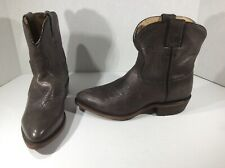 FRYE Womens Billy Short Smoke Leather Pull On Western Boots Shoes $278 FB4-39