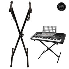 More details for glarry keyboard stand x type adjustable electric piano organ rack christmas day