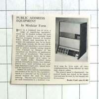 1962 Westrex Co Ltd Provide Public Address Equipment In Modular Form