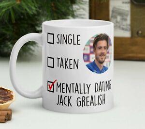 Mentally dating Jack Grealish funny tea coffee Mug, Football England Aston Villa