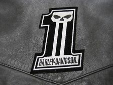 HARLEY DAVIDSON # 1 NUMBER ONE VEST PATCH FOR LEATHERS LOOK AND GET IT NOW!!!*
