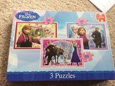 DISNEY FROZEN 3 in 1 Jigsaw Puzzle  BOX SET 3 X 50 Pieces JUMBO