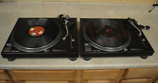 Set of 2 Technics SL1210MK2 Direct Drive Turntables *LOOK*  FREE SHIPPING