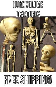 "1 Miniature Dollhouse LIFE LIKE BONES Human Skeleton 6"" 1/12 Figure Halloween"