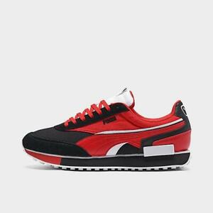 Mens Puma Future Rider Play On Casual Shoes (Raider/Black/Red)