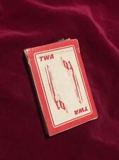 TWA Airlines Playing Cards Deck Vintage 1970s Mid Century Aviation Airlines