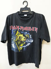Vintage 1990 Iron Maiden No Prayer For The Dying Rock Metal Tour Concert T-Shirt