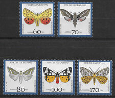 GERMANY, 1992 , ENDANGERED BUTTERFLIES , SET OF 5 , PERF , MNH
