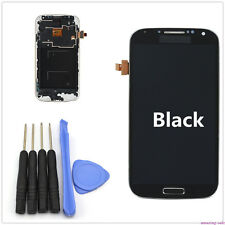 LCD Touch Screen Glass Panel Digitizer + Frame for Samsung Galaxy S4 i9505 Black