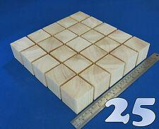 "LOT x 25 CUBES 2.0""/ 50 mm WOODEN BLOCKS BUNDLE SET PINE WOOD NATURAL ECO BRICKS"