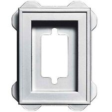 Builders Edge 130130002001 Recessed Mini Mounting Block 001, White