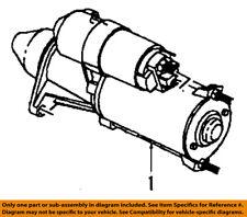 Saturn GM OEM 91-02 SL2-Starter Motor 19260748