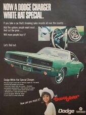 1969 Dodge Charge Car Photo Green Muscle Vintage Print Ad