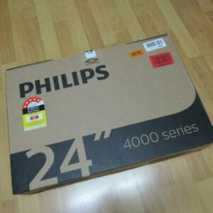 TV 24-inch PHILIPS 24PHT4003, LED HD TV, Two HDMI Inputs_wall mount_ ASNEW inbox