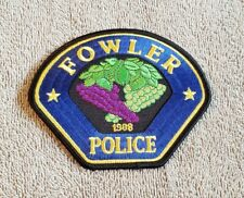Fowler California Police Shoulder Patch