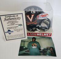 VIRGINIA CAVALIERS Aaron Brooks signed autographed Riddell mini helmet COA