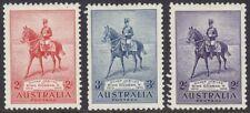 More details for australia 1935 kgv sg156-58 silver jubilee full set mm