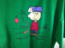 2XL green T Shirt PEANUTS Charlie Brown CHRISTMAS tee RED ball ORNAMENT dr suess