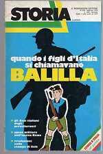 storia illustrata - numero speciale febbraio 1979 - balilla