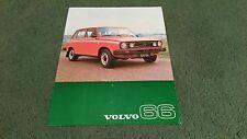 November 1976 / 1977 VOLVO 66 GL ESTATE - UK COLOUR LEAFLET BROCHURE