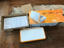 Nintendo 2DS XL Orange White Excellent Condition With Carry Case 7 Games