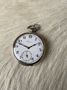 Rare Pocket Watch MONTRE GOUSSET ANCIENNE,  Longines 1929 Art Deco 18.69Z